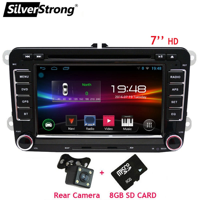 SilverStrong 2Din Android8.1 Car DVD Player for Volkswagen PassatB6 B7 Jetta MK5 MK6 Car Android Golf DVD GPS VW Radio 65DS