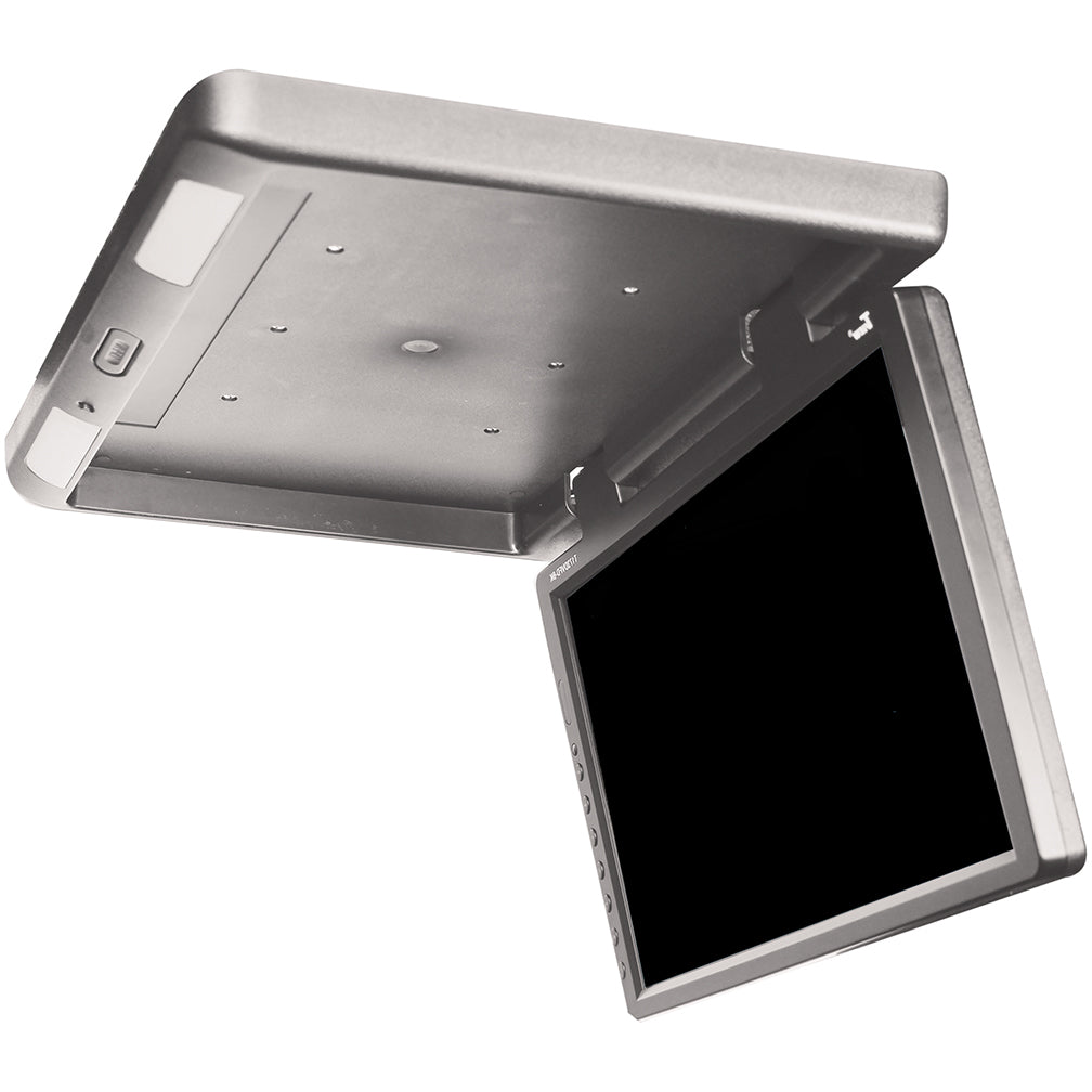 "TVIEW 17.3"" FLIP DOWN WITH BUILT IN DVD IR & FM MODUL GRAY"