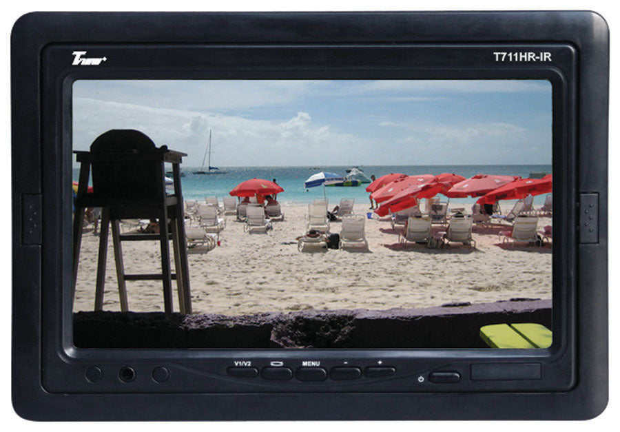 "Tview 7"" TFT LCD Headrest Monitor with shroud and stand"
