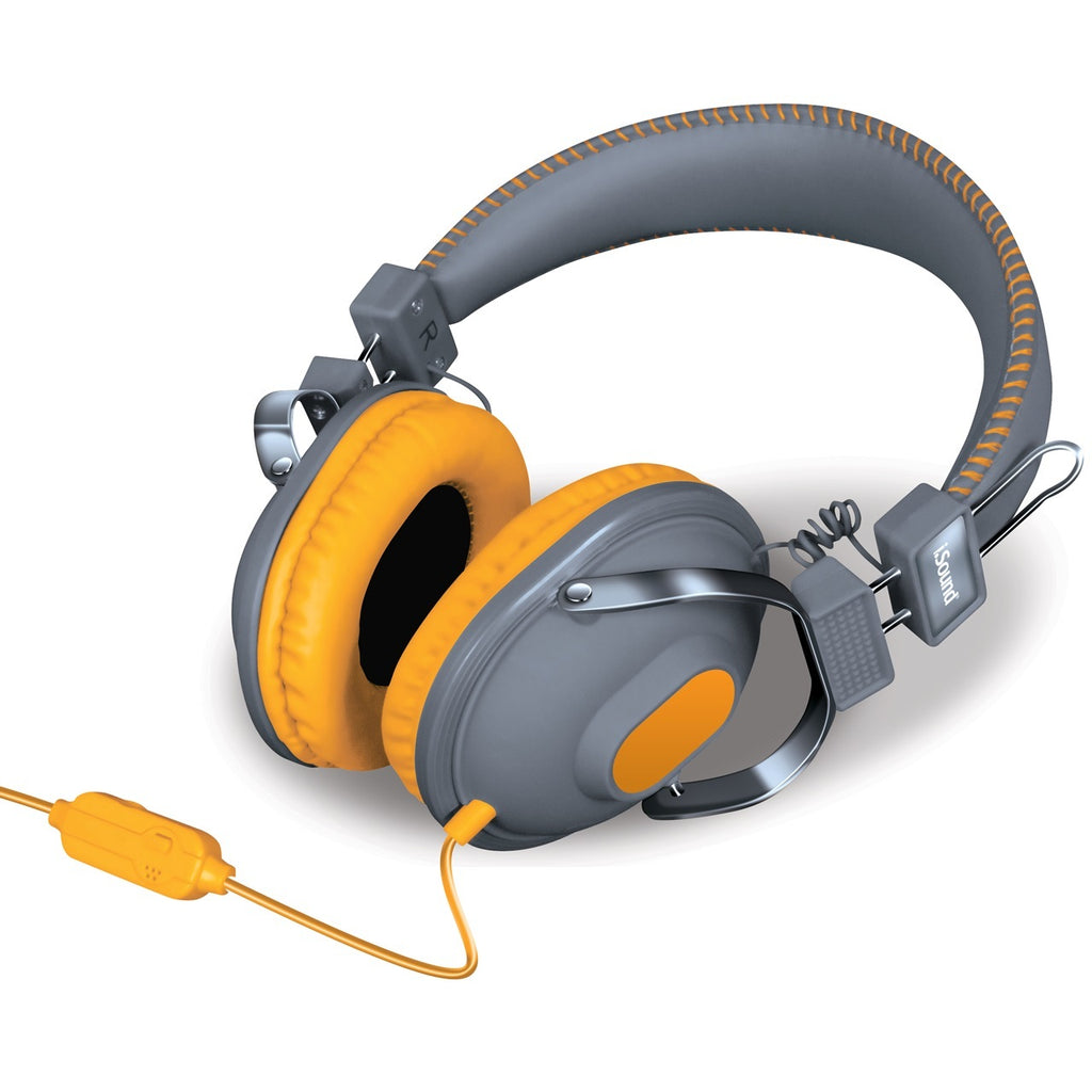 HM-260 Headphones w/ Mic Gray & Orange
