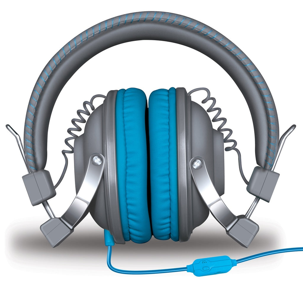 HM-260 Headphones w/Mic Gray & Blue
