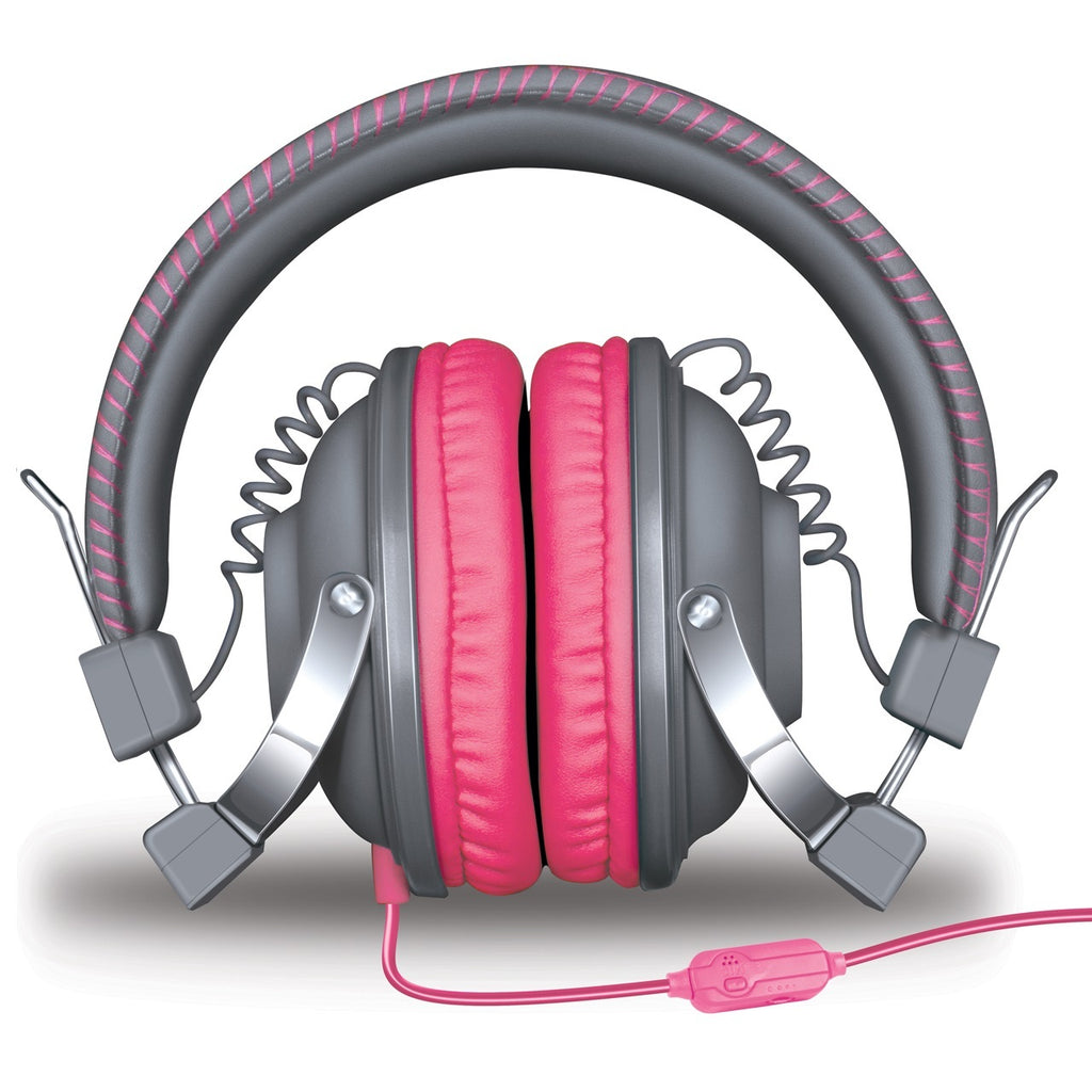 HM-260 Headphones w/Mic Gray & Pink