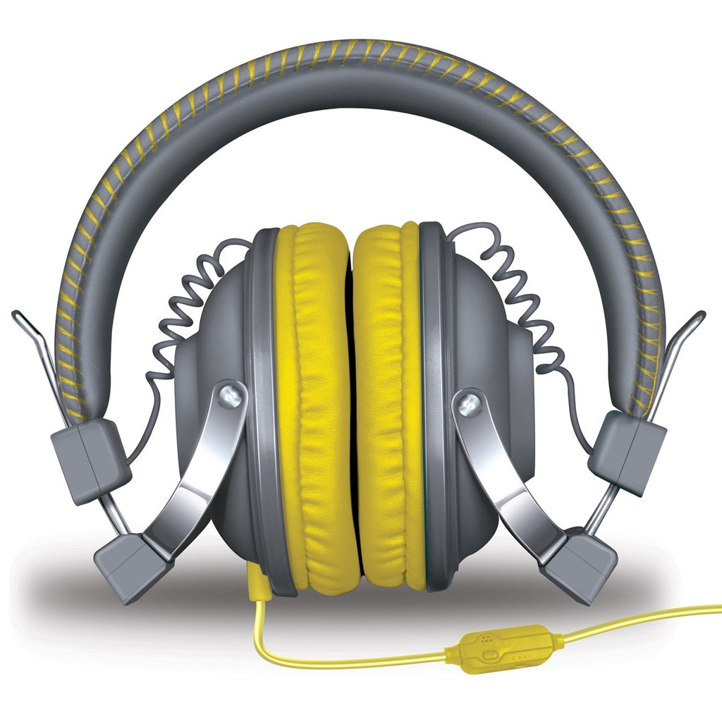 HM-260 Headphones w/Mic Gray & Yellow