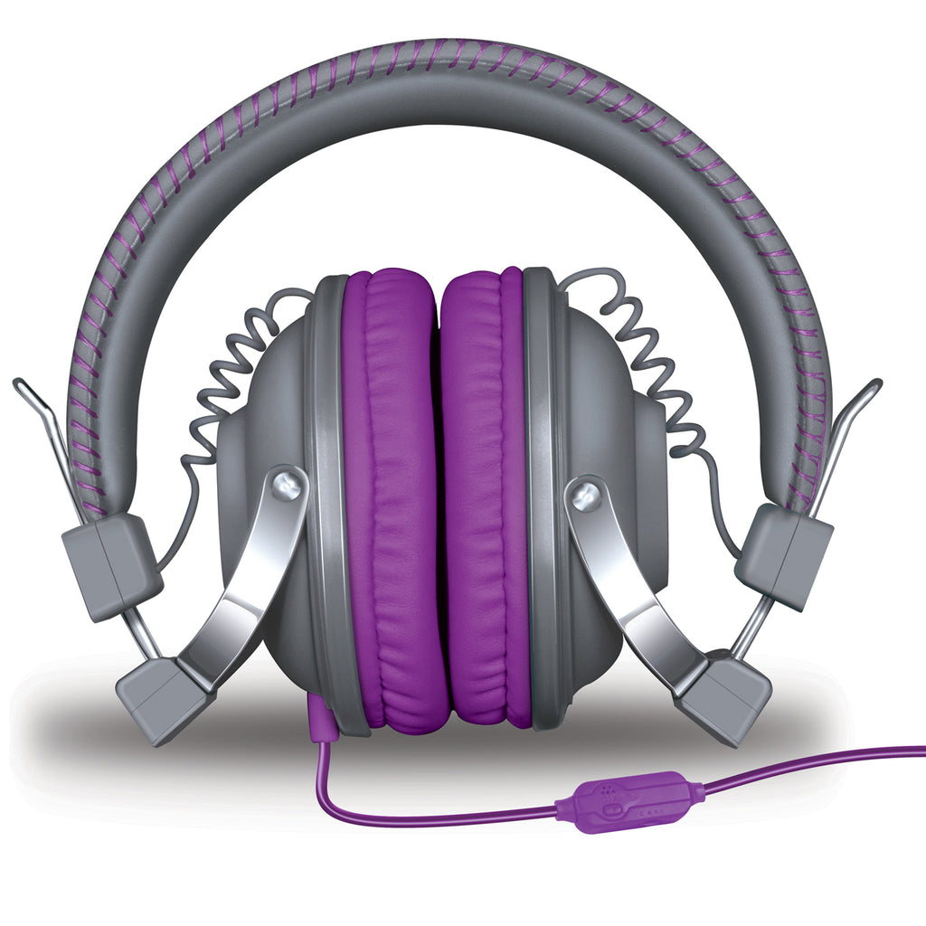 HM-260 Headphones w/Mic Gray & Purple