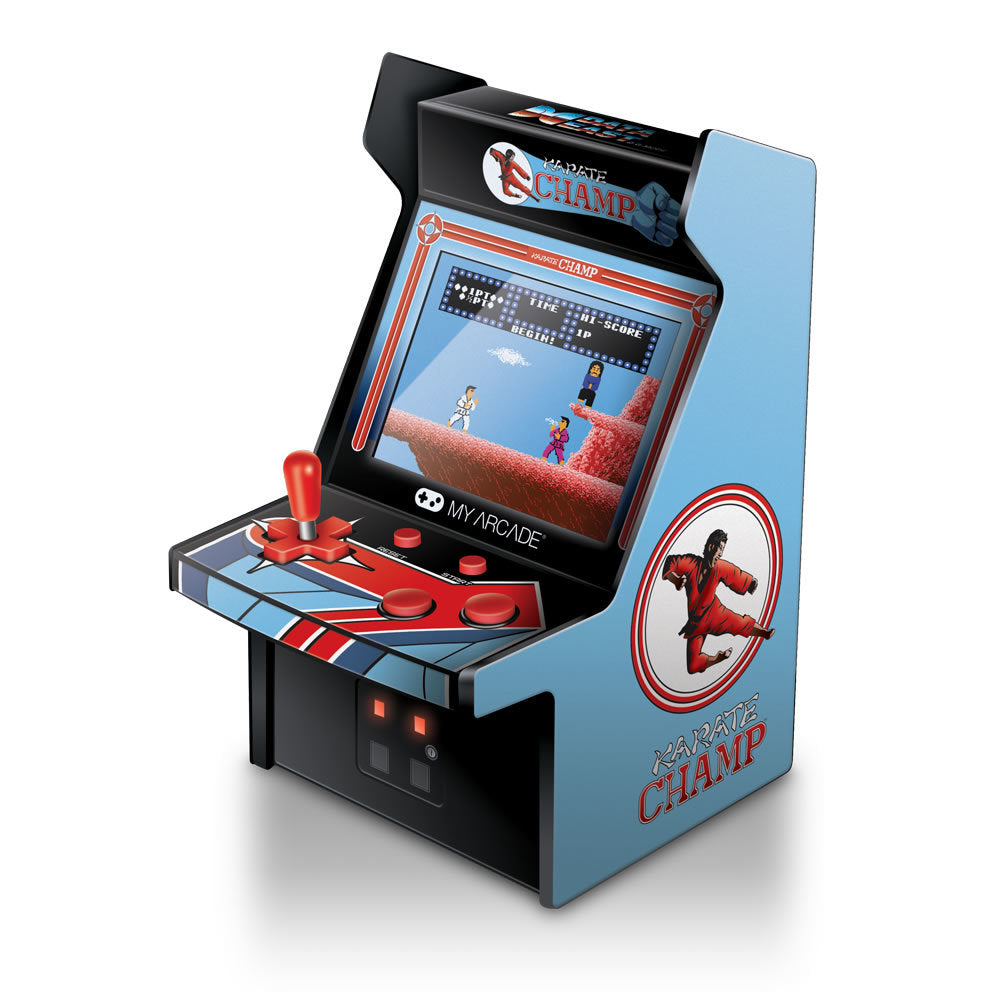 "6"" RETRO KARATE CHAMP MICRO ARCADE"