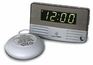 Alarm Clock w/ Bed Shaker
