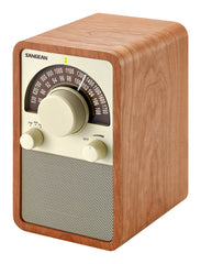 AM/FM Table Top Wooden RadioWalnut