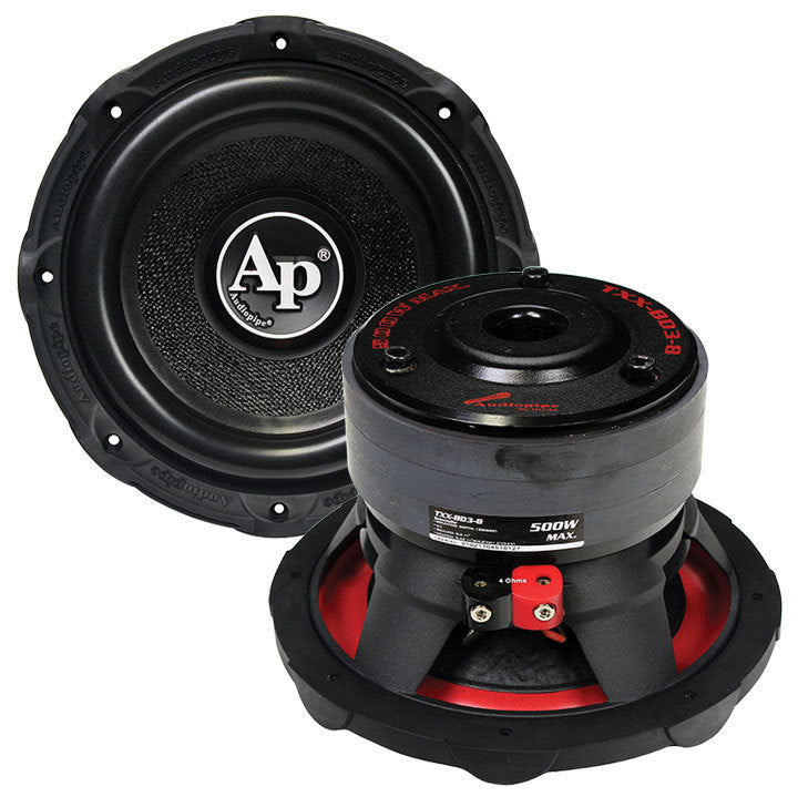 "Audiopipe 8"" Woofer 500 Watts 4 Ohm SVC 96 oz Magnet"