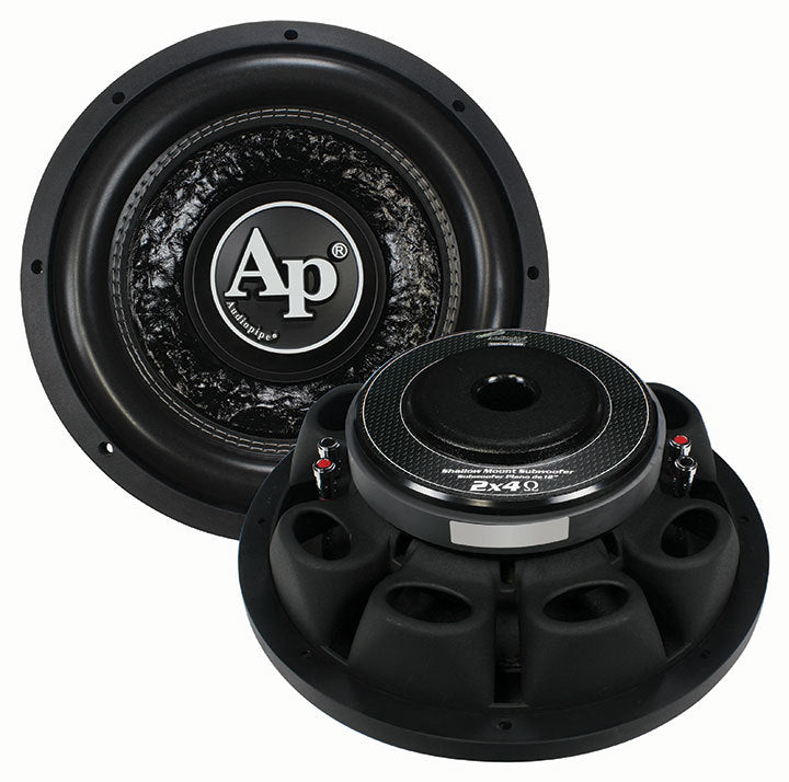 "Audiopipe 10"" Shallow Woofer Dual VC 4 ohm 600 Watts"