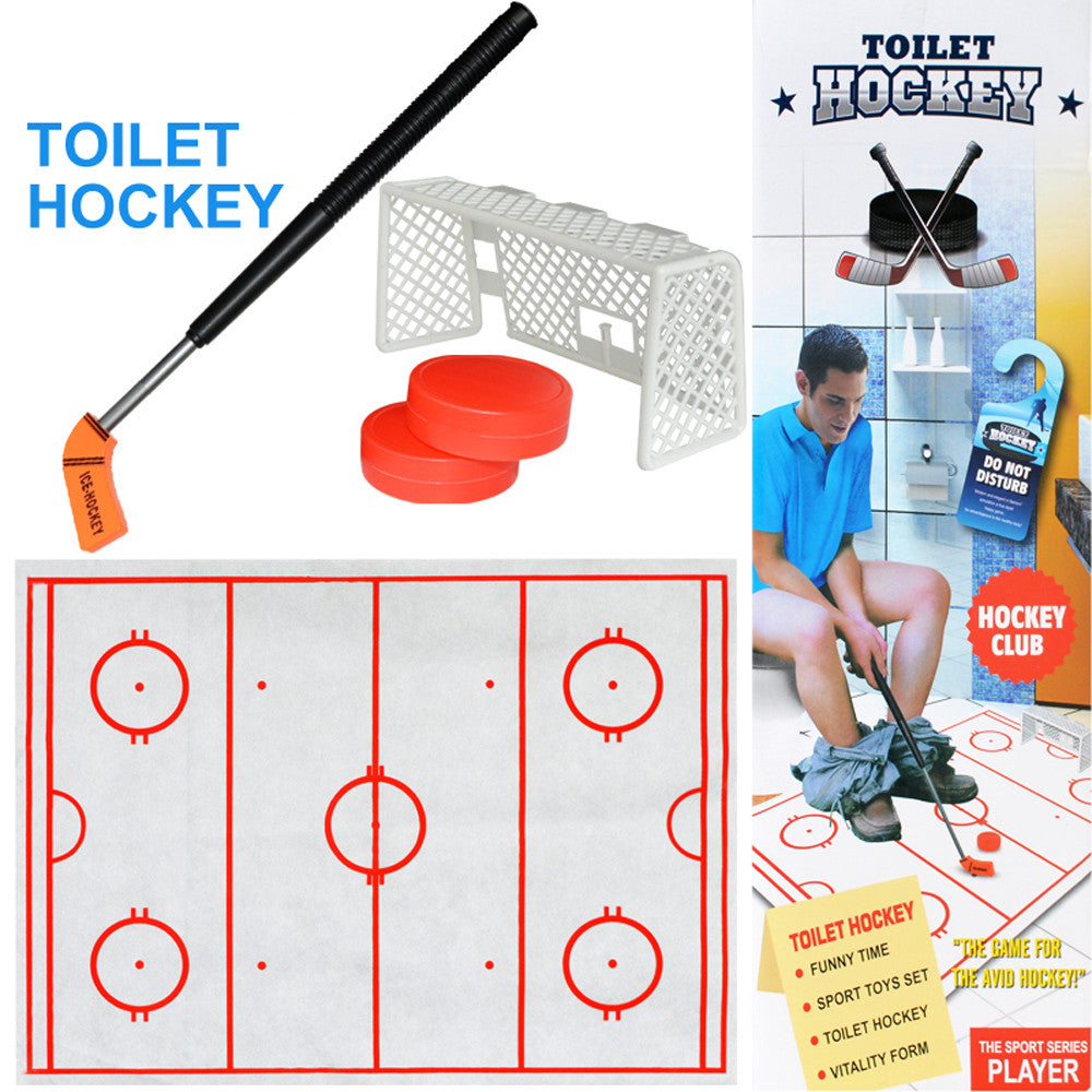 Toilet Hockey Game Decompression Fun Game Ice-hockey Toy Gift toy For Children