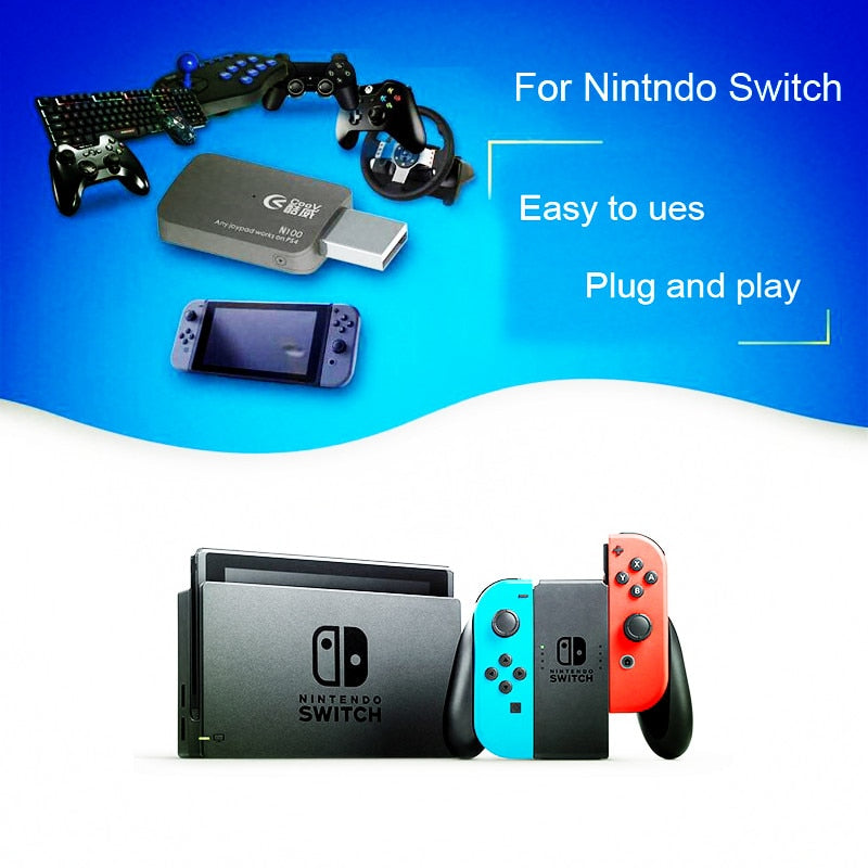 USB Adapter Accessories for Nintend Switch  Controller Handle Gamepad Joystick With OTG Support  PS4 PS3 Xbox one Xbox 360 slim