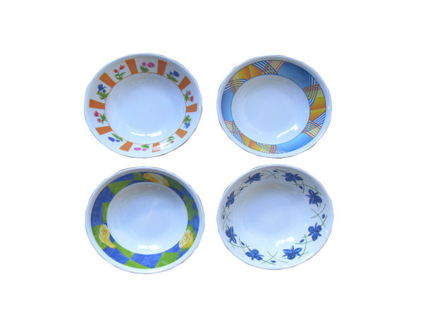 Melamine Bowl with Rose Print ( Case of 48 )