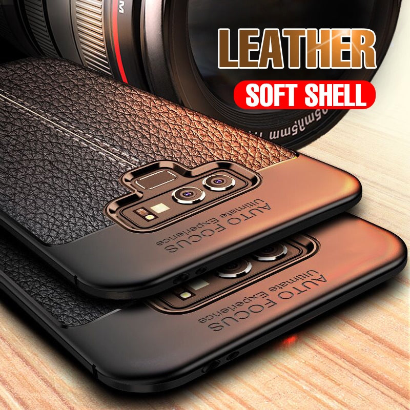 Ultra-Thin Soft Silicone Leather Case For Samsung Galaxy Note 9 8 S8 S9 PLus Full Cover For Samsung S7 Edge S8 S9 Matte TPU Case