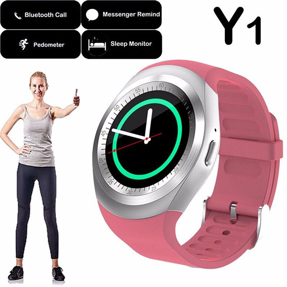 Y1 Smart Watch Activity Tracker Alarm Clock Smart Bracelet Bluetooth Dial Call Message Reminder Smart Watch Support TF Card