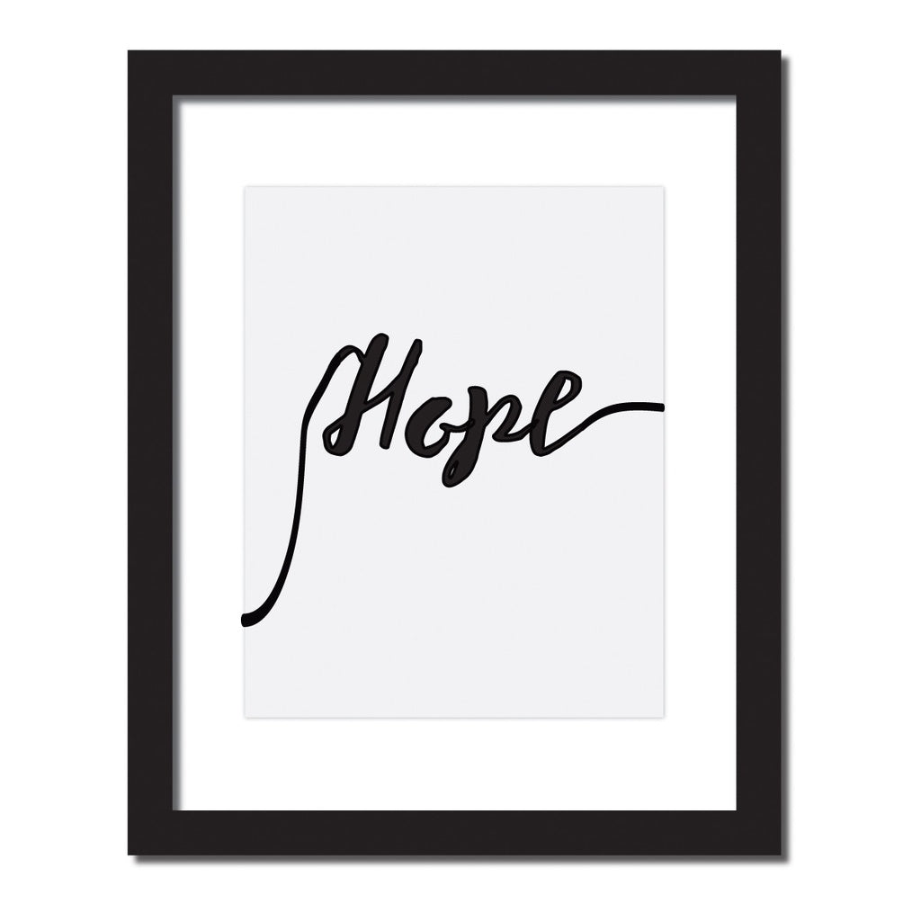 Inspirational quote print 'Hope'