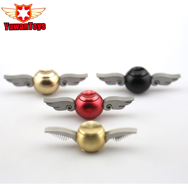 4 Style EDC Fidget Spinner Harry Potter Golden Snitch Metal Toy Hand Finger Spinner Cupid Wings Spiner Gift For Kid Adult Drum