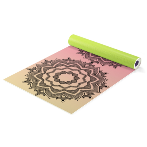 Calming mandala red yoga mat + bag