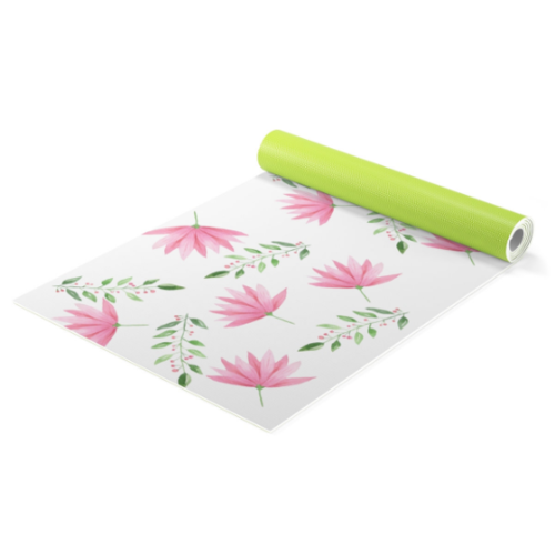 Pink flowers Yoga mat + bag