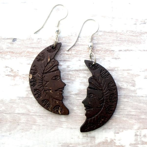 Coconut Moon Earrings