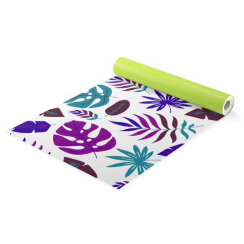 Exotic leaves Yoga mat