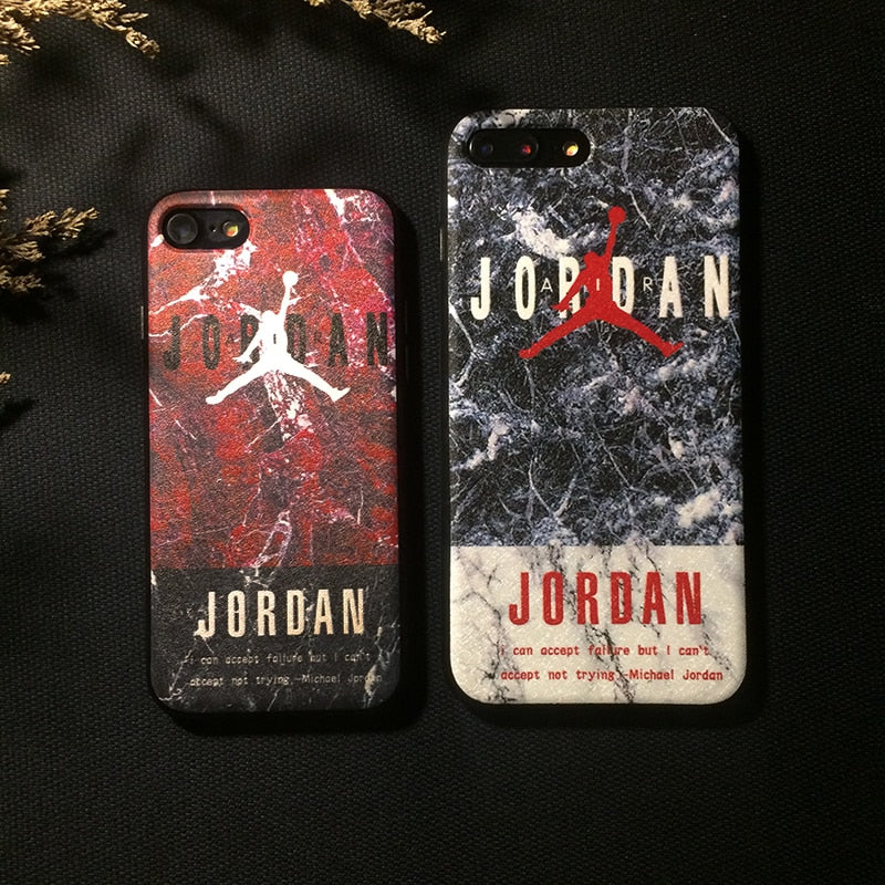 for iphone 6 6plus 6s plus 7 7plus 8 X 10 case classic air jordan sports phone cover Luxury silicone Scrub NBA  cases coque