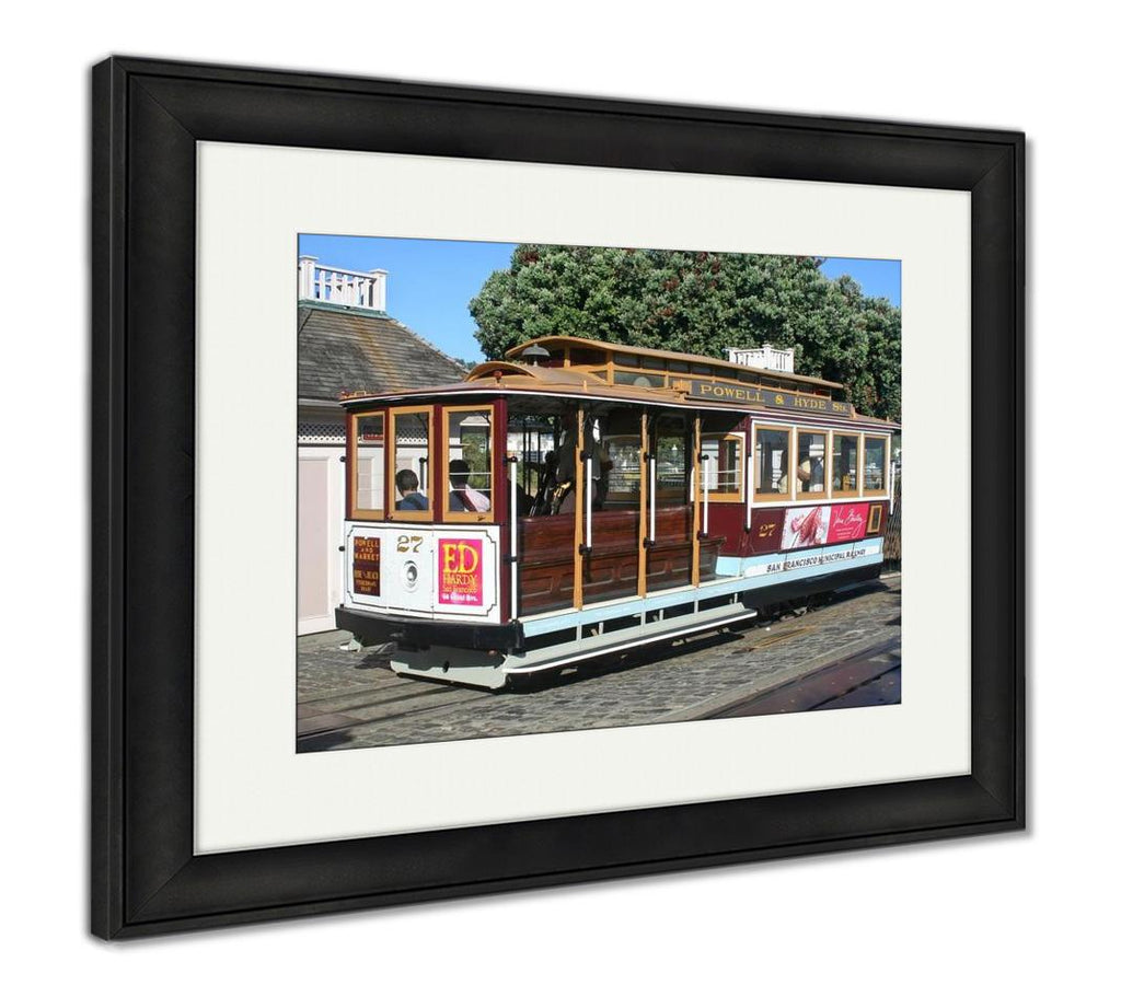 Framed Print, Cable Car San Francisco Ca