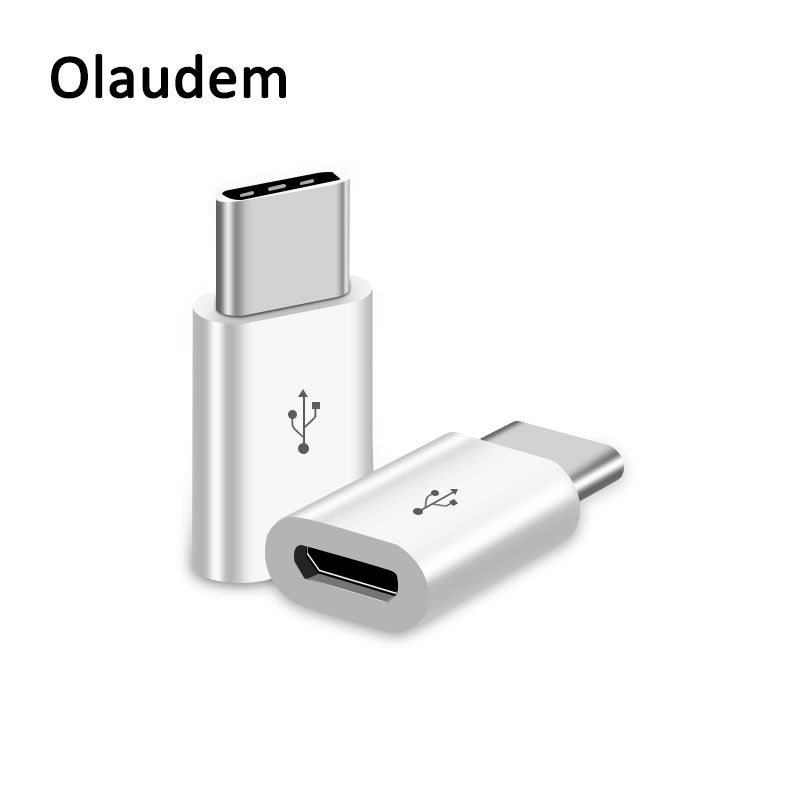 Olaudem Phone Cable USB C 3.1 Male to Micro USB Cable Fast Charging Converter Female Adapter USB Type C For Samsung Nokia ADT778