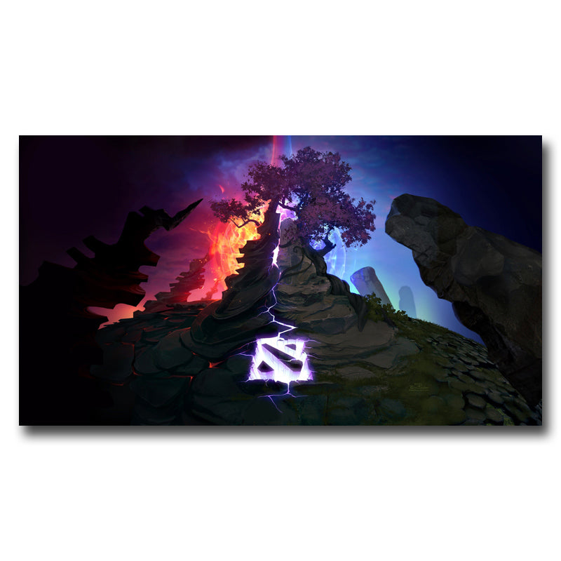 FOOCAME Dota 2 Video Game Art Silk Fabric Poster Prints Home Wall Decor Painting Boy Room Gift 11x20 16x29 20x36 Inches
