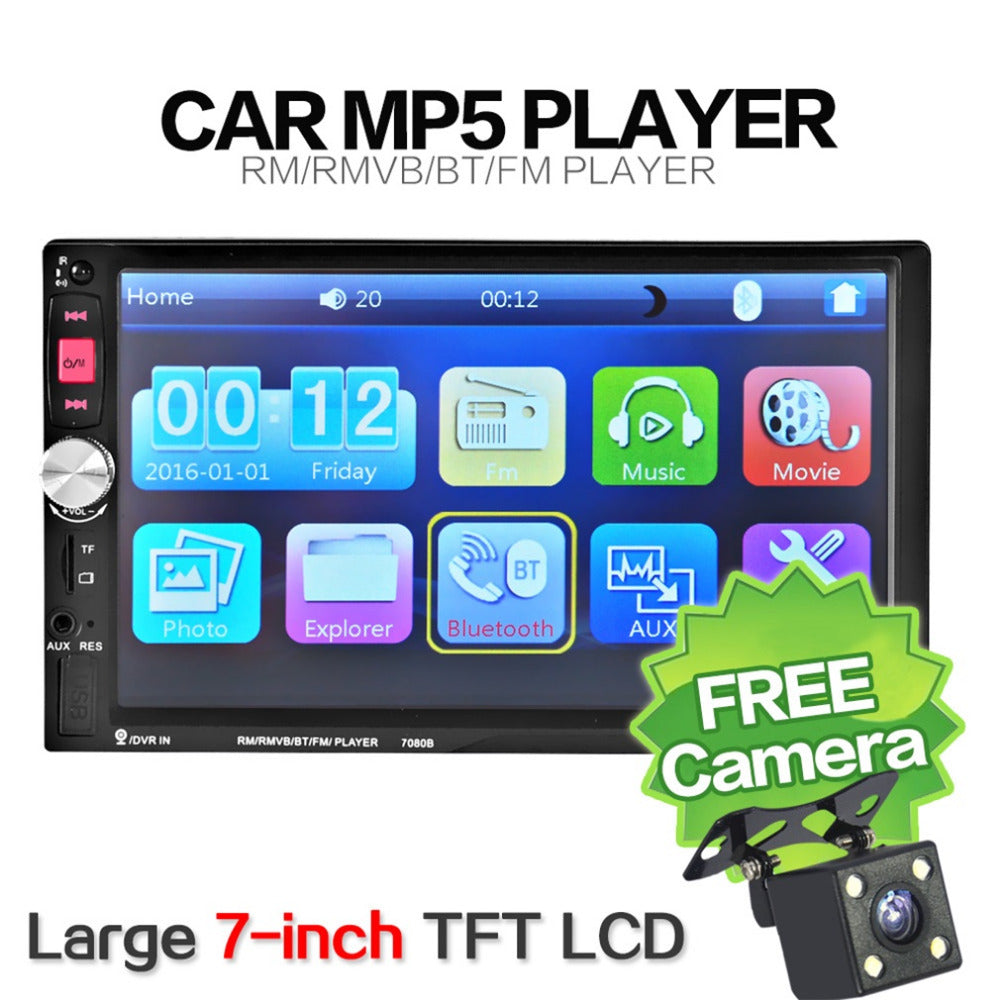 Newest 7080B Car Video Player 7 Inch with HD Touch Screen Bluetooth Stereo Radio Car MP3 MP4 MP5 Audio USB Auto Electronics Hot