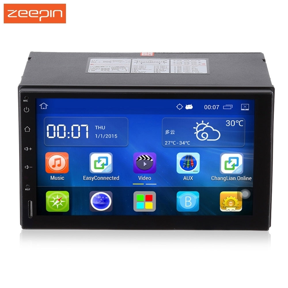 RM - CT0009 Android 5.1 2 din Car Multimedia Player 7 inch Capacitive Touch Screen 1024x600 Auto GPS Navigation FM Car Radio