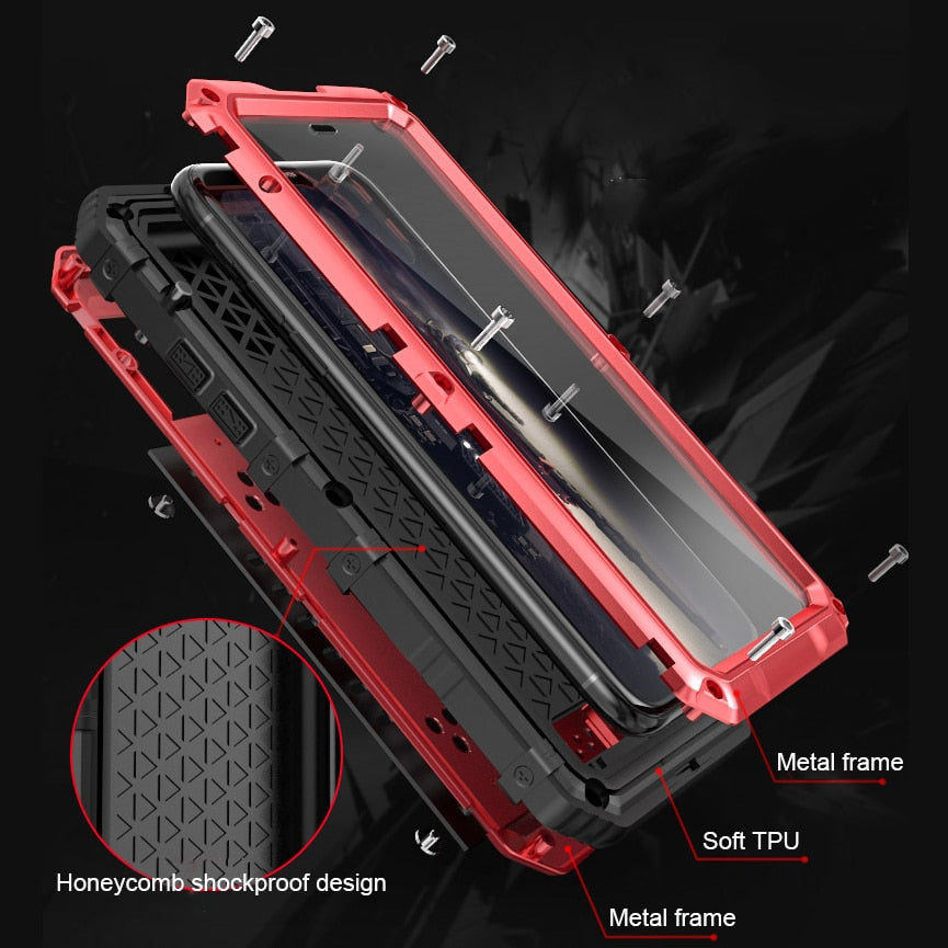 Premium Shockproof Waterproof Full Protection Aluminum Metal Case for For Apple iPhone X Tough Armor Doom Cover for iPhone 10
