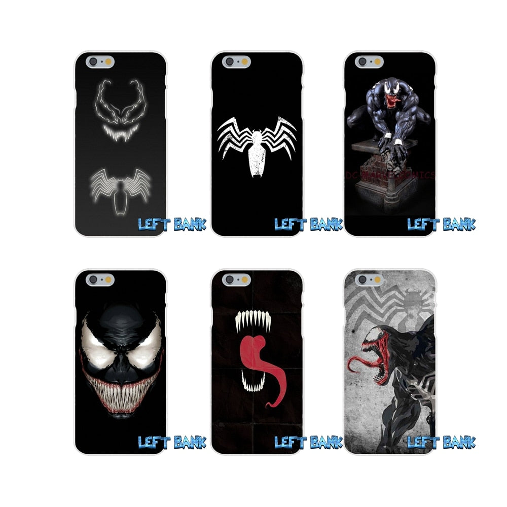 Spiderman Villain Marvel Venom Slim Silicone Case For iPhone X 4 4S 5 5S 5C SE 6 6S 7 8 Plus