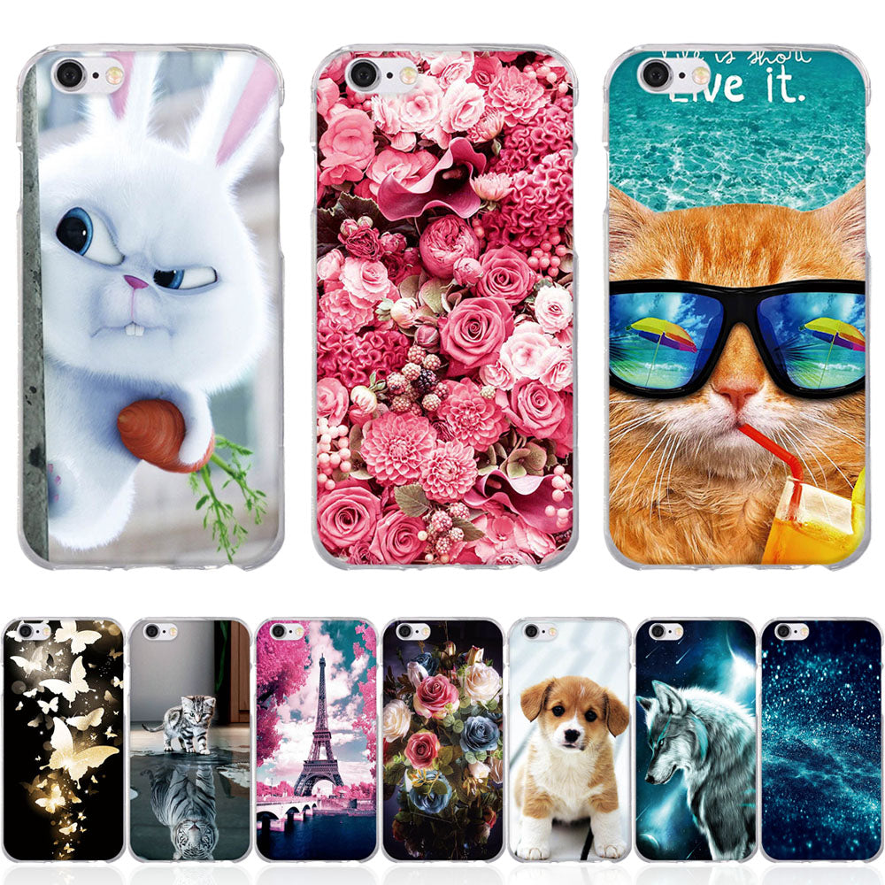 For iphone 5 5s SE X Case Silicon For iPhone 7 8 6 6s 5 5S SE X Case Cover for iphone 6 6s X Cover for Iphone 8 7 6 6s 5 s Cases