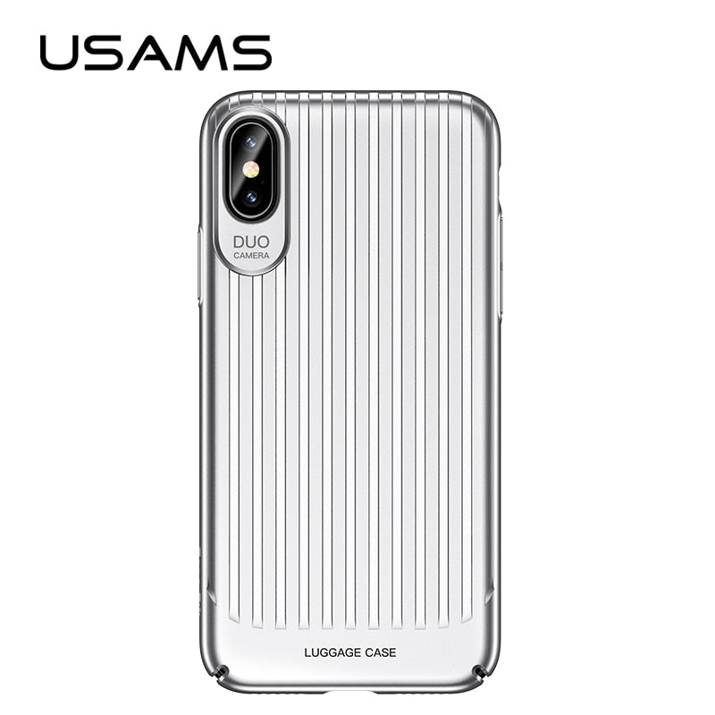 Fitted Case for iPhone X,USAMS Trunk Series Mobile Phone Case for iPhoneX Ultra Silm back Cover Full Protector for iphone cases