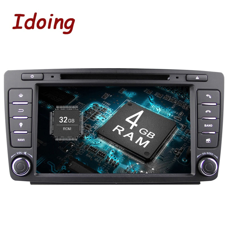 Idoing Android8.0 4G+32G 8Core 2Din Steering-Wheel For Skoda Octavia 2 Car Multimedia DVD Player Fast Boot 1080P HDP GPS+Glonass