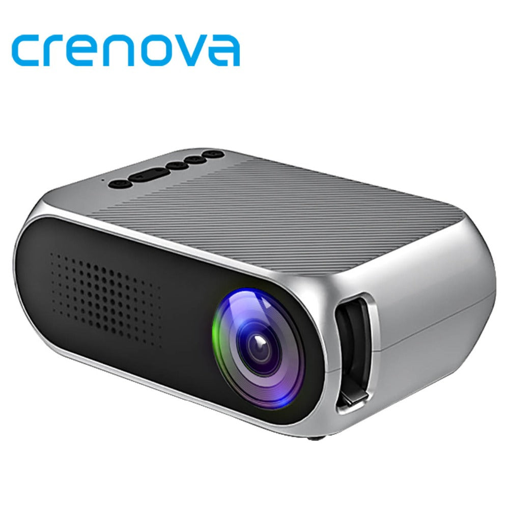 CRENOVA LED Projector For Full HD 1920*1080p Home Theater Movie Video Projector With HDMI USB AV Output Interface Beamer