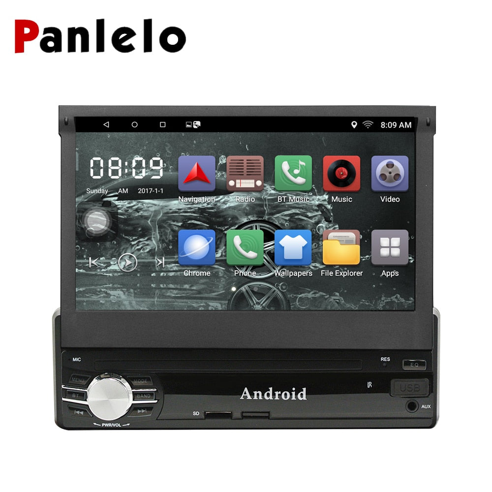 Panlelo 1 Din Android Car Multimedia 7 Inch Quad Core 6.0 1G16G / 2G16G Car Styling Autoradio Android Car Audio Player Bluetooth