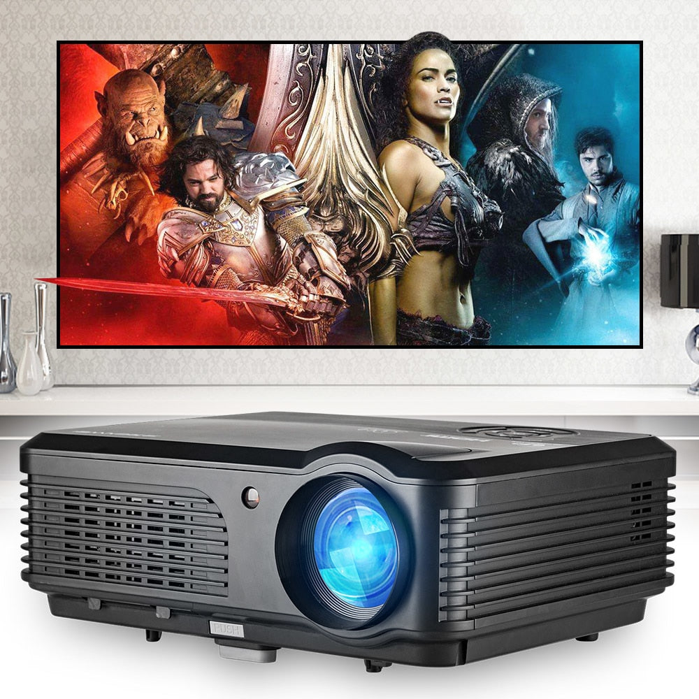 4200Lumen LED Projector Home Theatre Beamer Home Cinema Proyector Full HD 1080P Video HDMI USB VGA Connecting Smartphone tablet