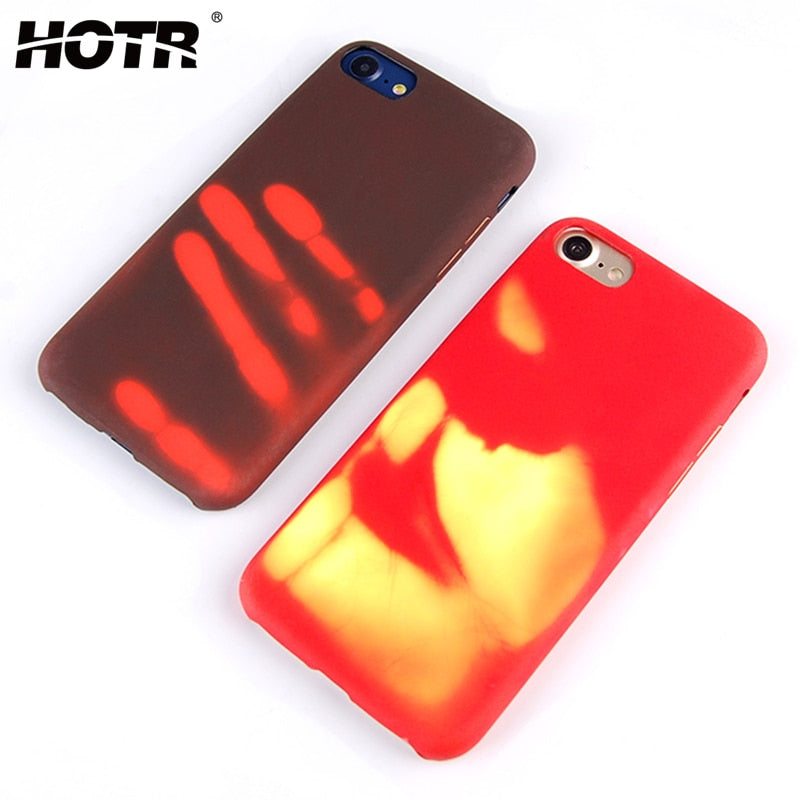 Heat Sensitive Case for iphone X XR XS Max 9 8 7 6 Plus 5 5S Soft TPU Cover HOT Discoloration Changed Color Thermal Sensor Case