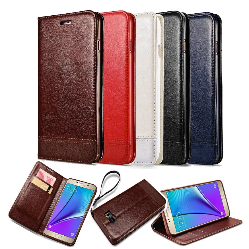 Vintage S7 Wallet PU Leather Case for Samsung Galaxy S7 with Stand and Card Holder Phone Bag Luxury Flip Cover Coque White Brown