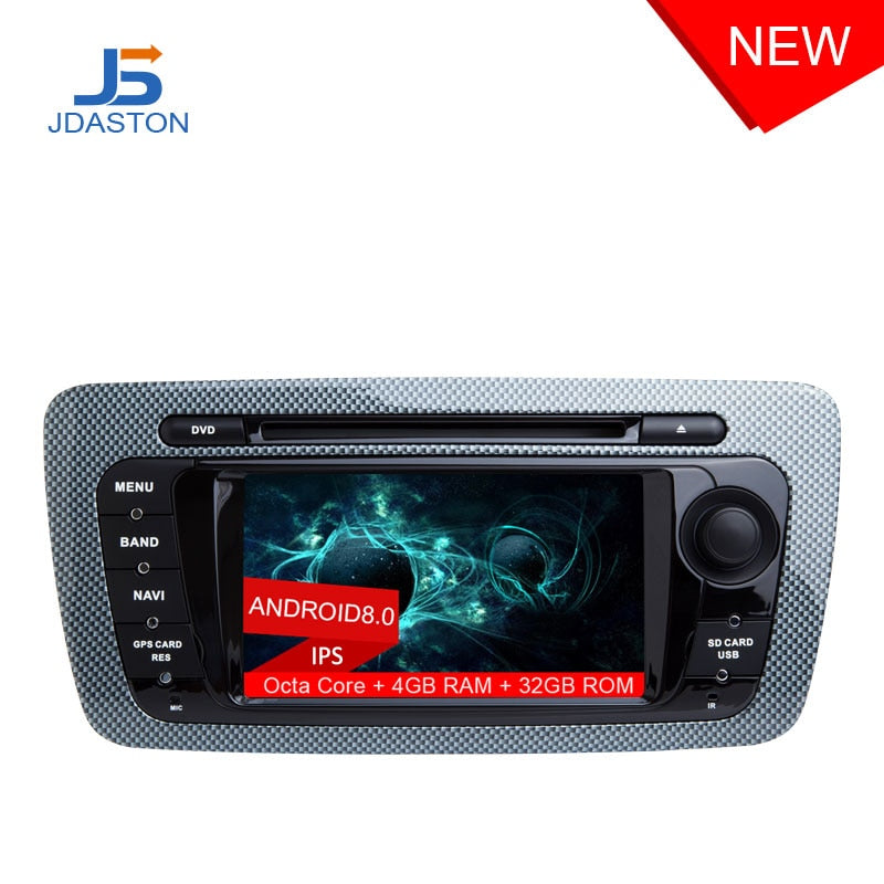 JDASTON Octa Cores Android 8.0 Car DVD Player For Seat Ibiza 2012 2013 2014 2015 Multimedia GPS Navigation Radio 4G+32G Headunit