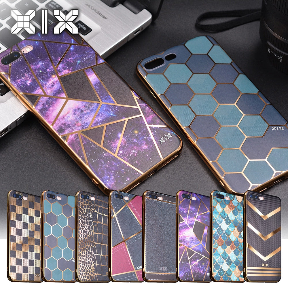 For funda iPhone 6S case 6 7 8 Plus X Electroplate soft silicone TPU for coque iPhone X case new arrival for capa iPhone 7 case