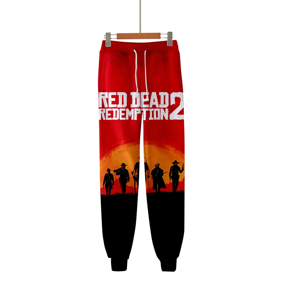LUCKYFRIDAYF 2018 RED DEAD REDEMPTION 2 Warm Pop 3D Fashion Pants High Quality Pants Casual Warm Pants Slim Kpop Men/Women
