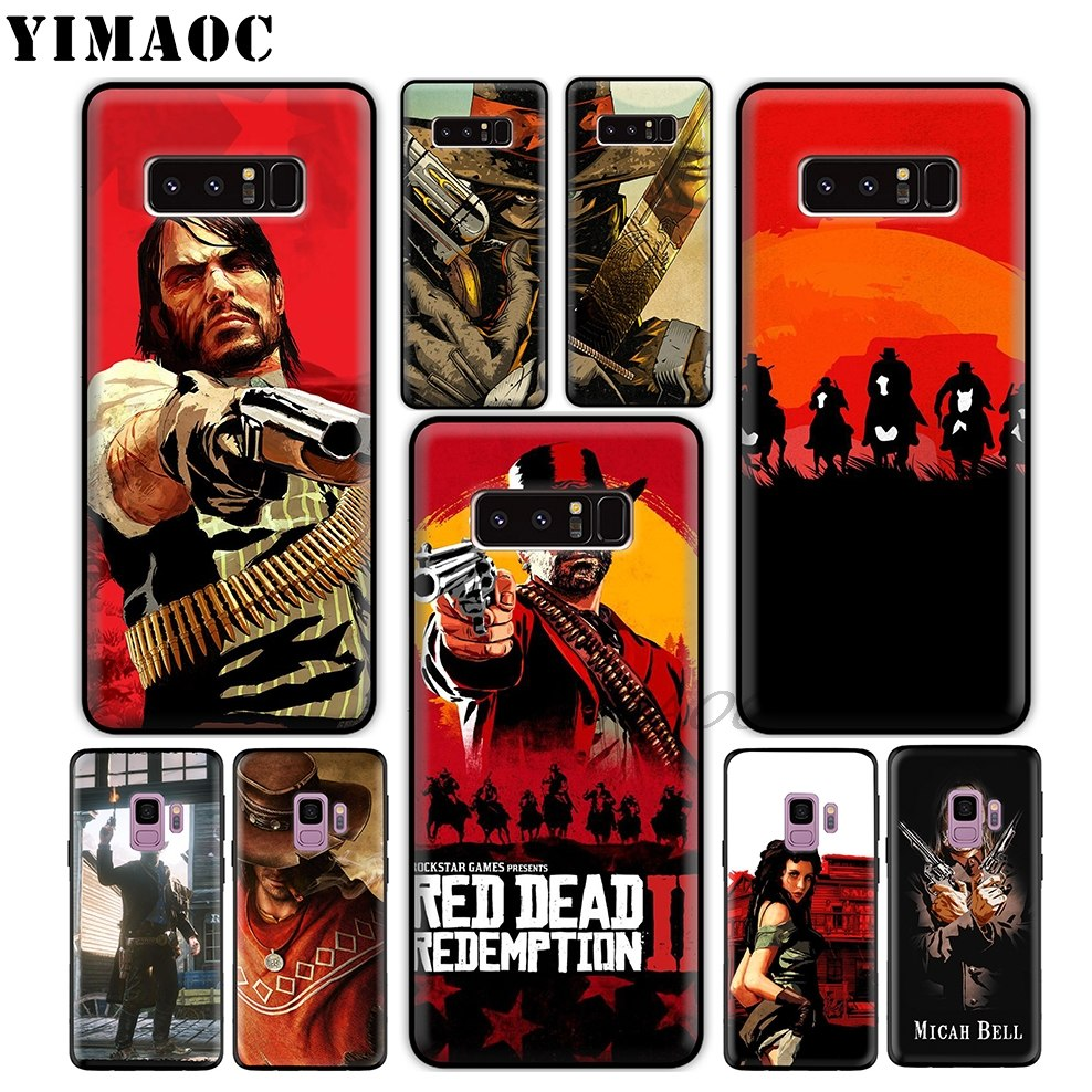 YIMAOC Red Dead Redemption 2 Soft TPU Silicone Case for Samsung Galaxy S9 S8 Plus S7 S6 Edge Cover S9 Plus