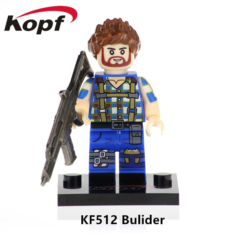 Single Sale With Real Metal Weapon Builder Game Fortnight Battle Royale Action Figure Building Blocks Gift Toys Children KF512