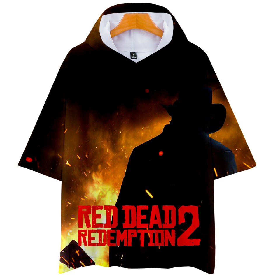 2018 RED DEAD REDEMPTION 2 Hooded T-shirts Women Men Fashion 3D Printed  Summer 671ed84f6db9