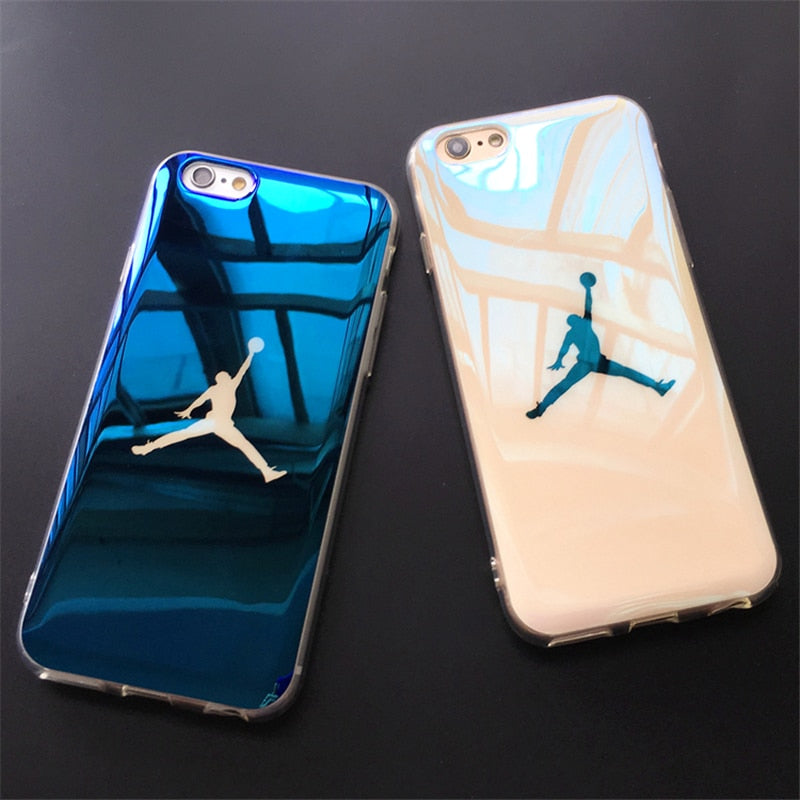 Fashion 7 8 6 6S Plus case Blu-ray laser Ultra Thin NBA 23 Michael Jordan TPU Soft Case For iphone X XS XR XS MAX Case Back Cove