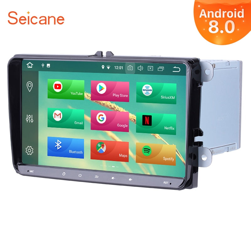 "Seicane Android 8.0 9"" 2Din GPS Multimedia Player Car Radio For VW Golf Jetta Tiguan T5 B7 Passat MK5 Seat Leon Skoda Octavia"