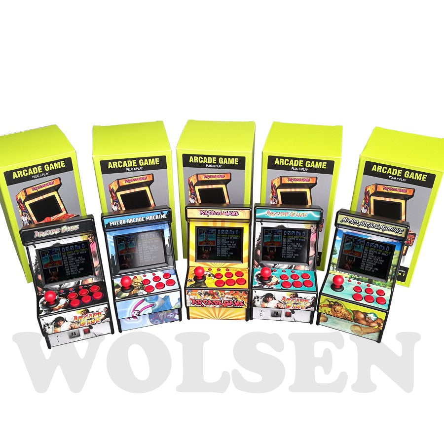 Wolsen 16 Bit Arcade video game arcade cabinet TV Game built in 156 games