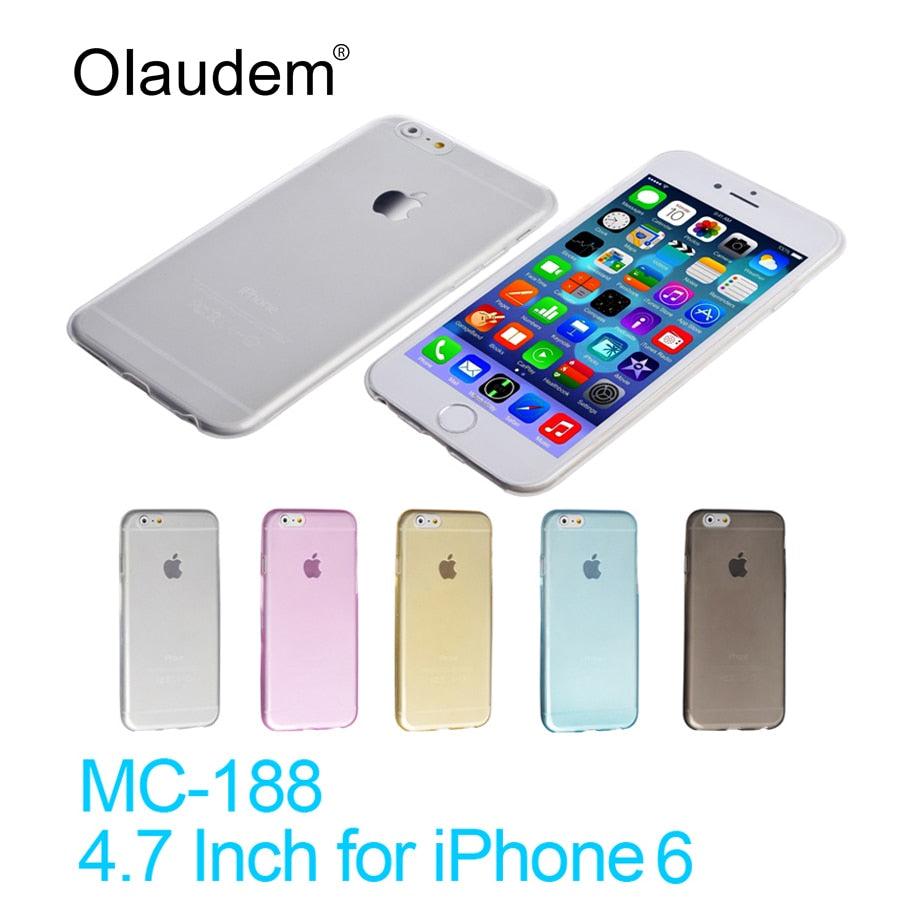 Luxury Flexible TPU Mobile Phone Cases For iPhone 6  iPhone6 Silicone Bag Rubber Cover Gel Capa Coque Fundas Carcasa MC-188